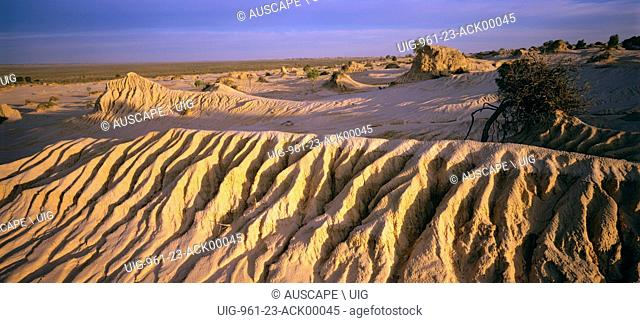 Eroded dunes, Mungo National Park, Western New South Wales, Australia