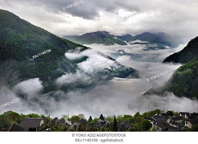 View from Mergoscia, Canton Ticino, Switzerland