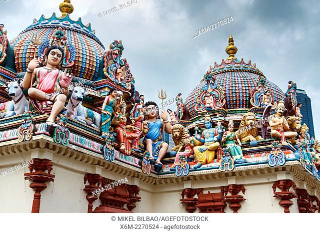 Sri Mariamman hindu temple. Chinatown district. Singapore, Asia