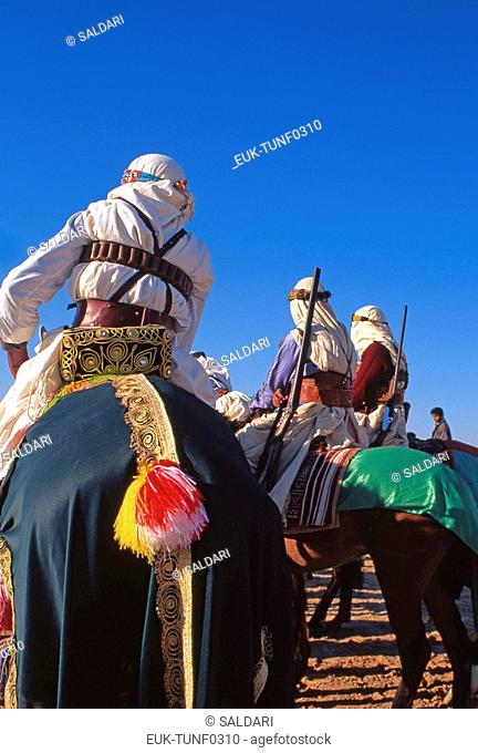 Riders on Arab stallions,International Festival of the Sahara, Douz,Tunisia