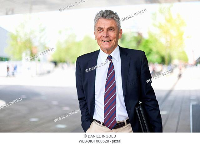 Portrait of confident senior businessman