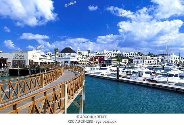 Marina of Playa Blanca, Lanzarote, Canary Islands, Spain