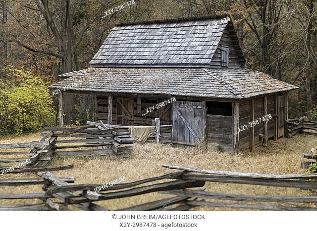 Historic backcountry farm house, Gastonia, North Carolina, USA
