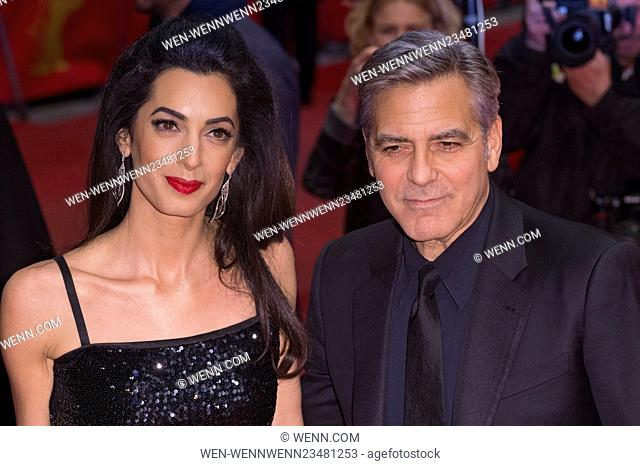 Celebrities actors and Directors attends the Opening Ceremony for the 66th Berlin Film Festival at the Berlinale Palast. Featuring: Amal Clooney