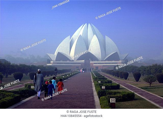 India, New Delhi city, Lotus temple, Bahai Temple, Asia, travel, January 2008, religion, modern, architecture, buildin