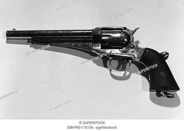 Close-up of a Remington Army Revolver
