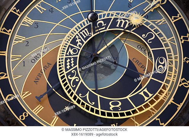 Detail of the astronomical clock, Prague, CZ