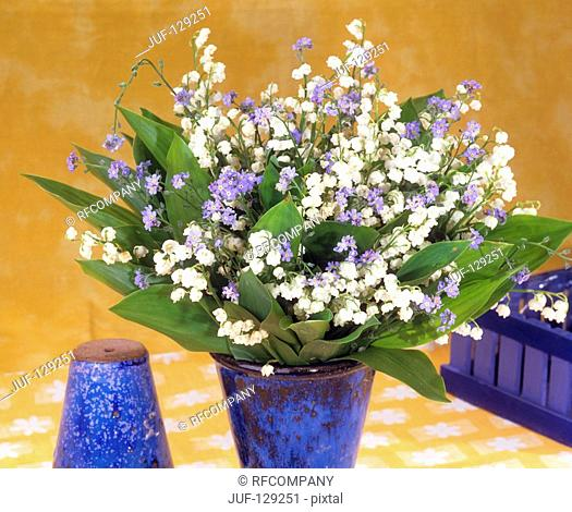 bouquet with lily-of-the-valley and Forget-me-not