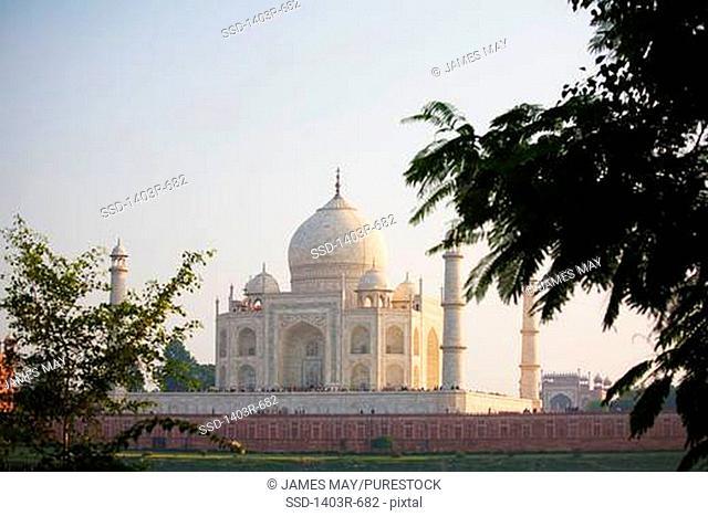 Facade of a mausoleum, Taj Mahal, Agra, Uttar Pradesh, India