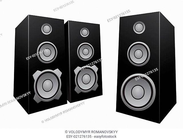 Black abstract speakers