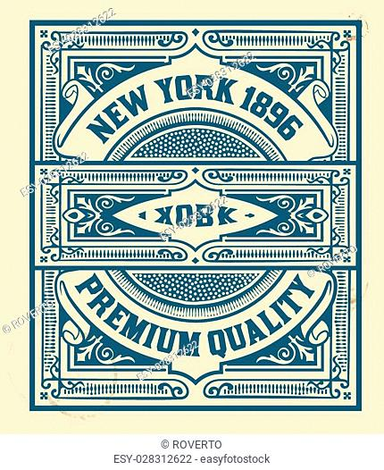 Retro stamp design. Organized by layers