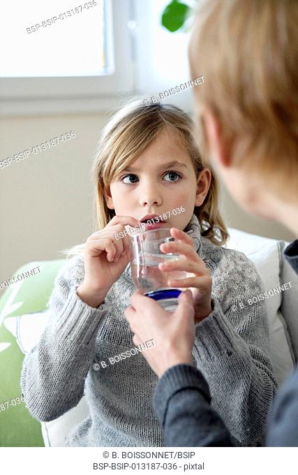 CHILD TAKING MEDICATION