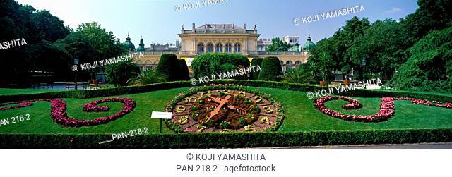 Flower Clock, Stadtpark, Vienna, Austria, No Release