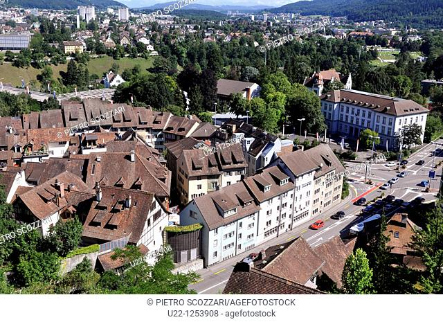 Baden (Argovia, Switzerland): view of the city