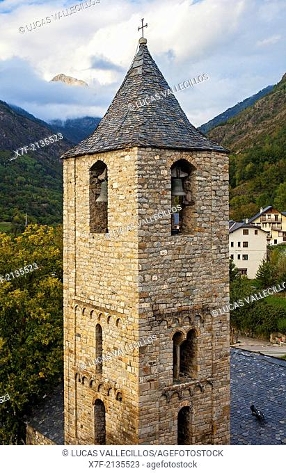 Sant Joan church.Romanesque church.Boí.Boí valley.Lleida province. Catalonia. Spain