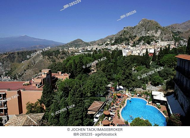 ITA, Italy, Sicily : The town of Taormina, in the northeast of the island. Bristol Park Hotel. |