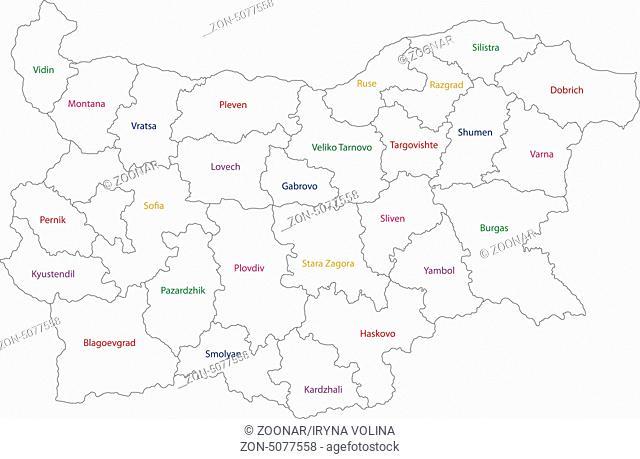 Outline Bulgaria map