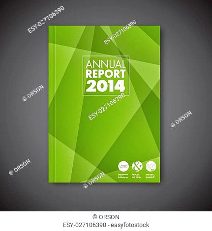 Modern Vector green abstract brochure / book / flyer design template