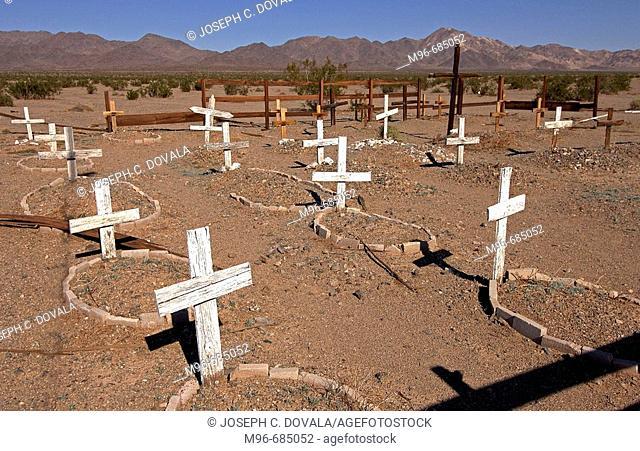 Old graveyard Amboy, CA. USA