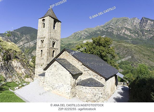 San Juan de Boi romanesque church in Bohi Bohi valley Lleida Catalunya Spain
