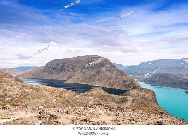 Besseggen ridge at Jotunheimen National Park 2 lakes