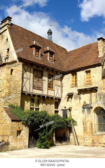Charming medieval sandstone house in Sarlat, Dordogne region of France