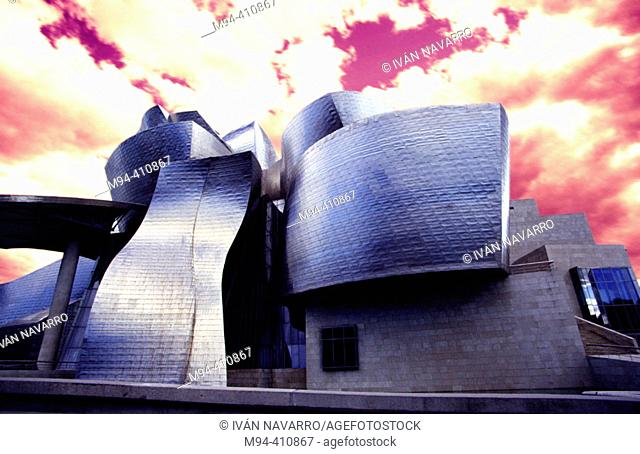 Guggenheim Museum, designed by Frank O. Gehry. Bilbao. Basque Country. Spain