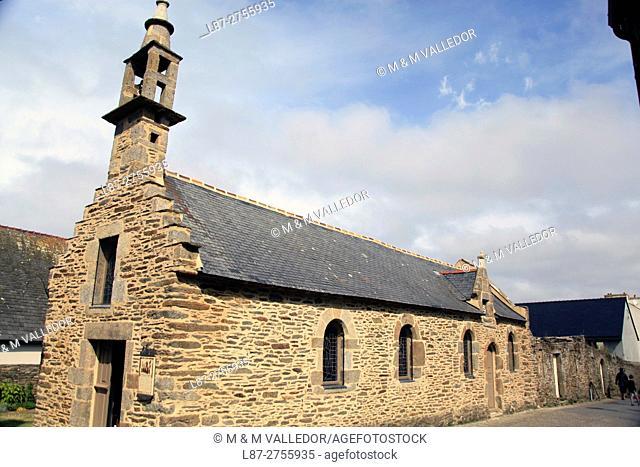 CHURCH IN LE CONQUET, IROISE SEA,FINISTERRE, BRETAGNE