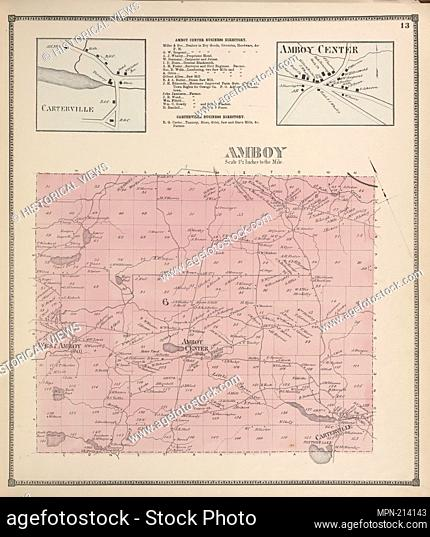 Carterville [Village]; Amboy Center Business Directory. ; Amboy Center [Village]; Amboy [Township]. C.K. Stone (Firm) (Publisher)