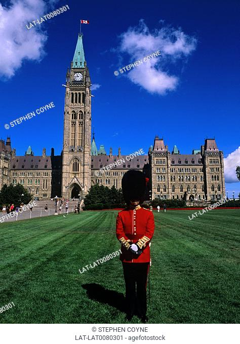 The current building on Parliament hill in Ottawa was rebuilt after a fire in 1916 and the Centre Block was completed in 1922