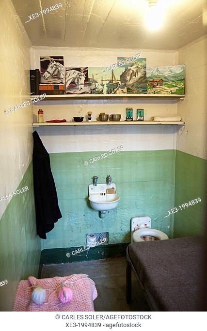 Famous cell, Alcatraz Penitentiary, San Francisco, California, USA