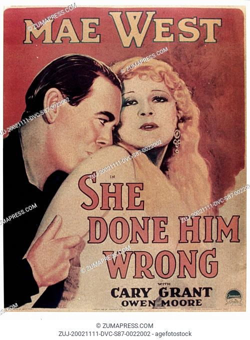 1933, Film Title: SHE DONE HIM WRONG, Director: LOWELL SHERMAN, Studio: PARAMOUNT, Pictured: LOWELL SHERMAN. (Credit Image: SNAP/ZUMAPRESS.com)