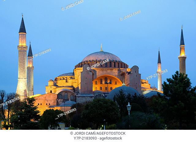 Hagia Sofia mosque . Sultanahmet.Istanbul. Turkey