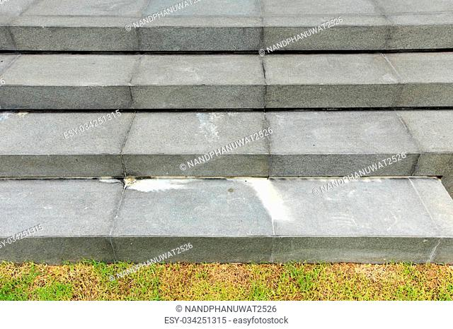 staircase made by natural stone and get problem from white calcium