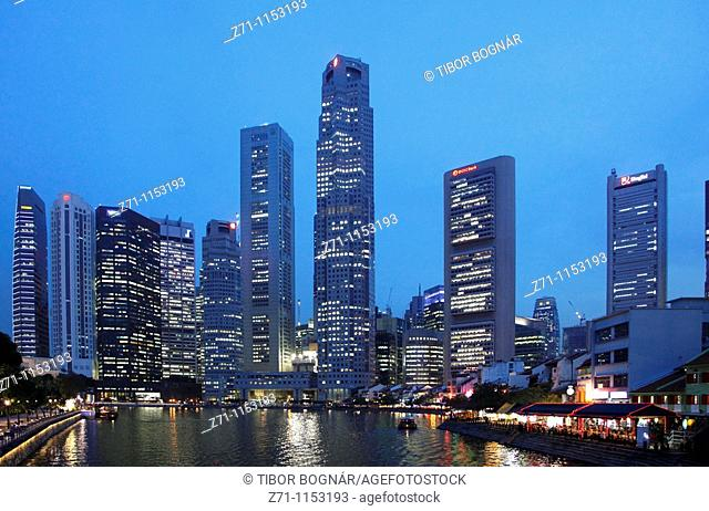 Singapore, Central Business District, Boat Quay, Singapore River