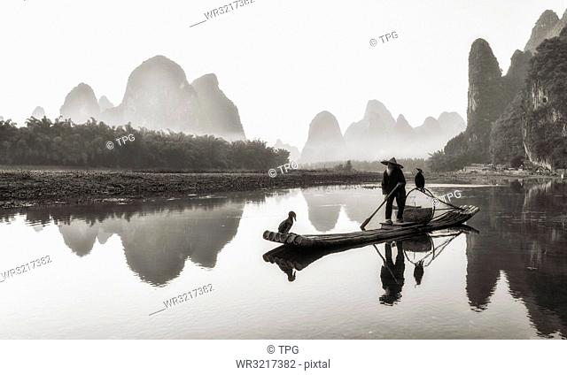 cormorant fisherman;Guangxi;China
