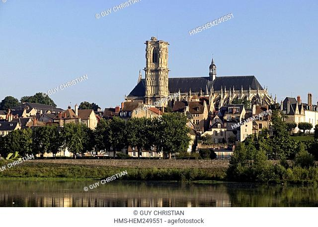 France, Nievre, Nevers, St Cyr and Ste Julitte Cathedral