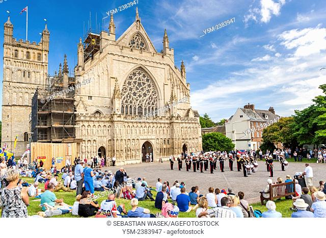 Armed Forces Day Celebrations at the Exeter Cathedral, Exeter, Devon, United Kingdom, Europe, 21rd June, 2014