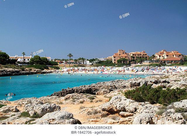 Beach at Cala en Bosc, Menorca, Minorca, Spain, Europe