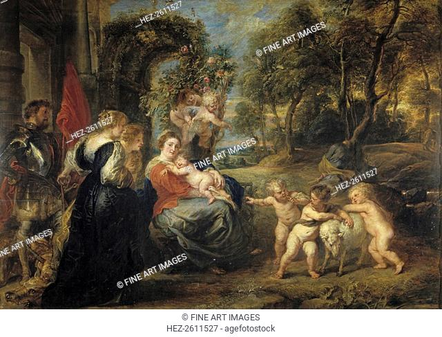 Rest on the Flight into Egypt, with Saints, c. 1635. Artist: Rubens, Pieter Paul (1577-1640)