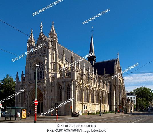 Our Blessed Lady of the Sablon Church (Eglise Notre Dame du Sablon), Brussels, Belgium, July 2015 / Eglise Notre Dame du Sablon, Brüssel, Belgien, Juli 2015