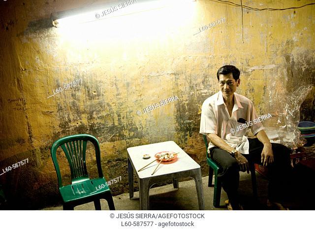 Street restaurant. Ho Chi Minh City. Vietnam