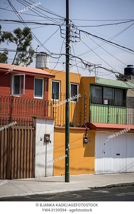 Colourful Houses, Coyoacan, Mexico City, Mexico