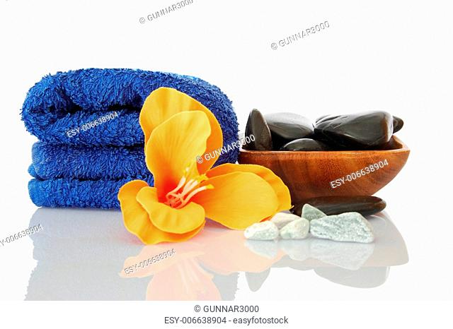 bath and aromatherapy still life isolated on white background