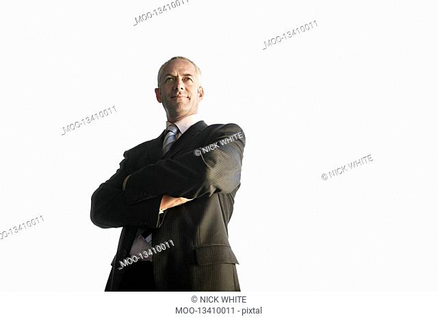 Businessman low angle view