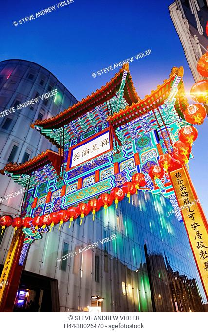 England, London, Soho, Leicester Square, Chinatown, Chinese Gate