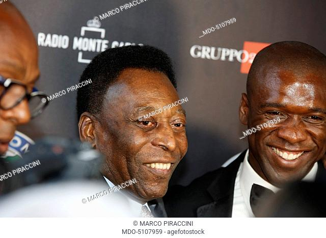 Brazilian former footballer and football administrator Pelé (Edson Arantes do Nascimento) and Dutch former footballer and manager Clarence Seedorf (Clarence...