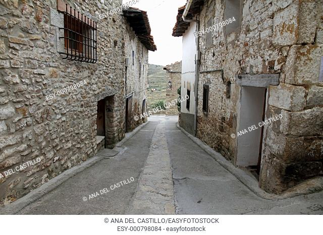 Puertomingalvo village, Teruel province, Aragon, Spain