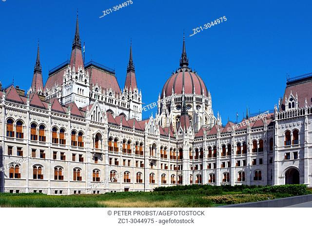 Hungarian Parliament building in the capital Budapest - Hungary