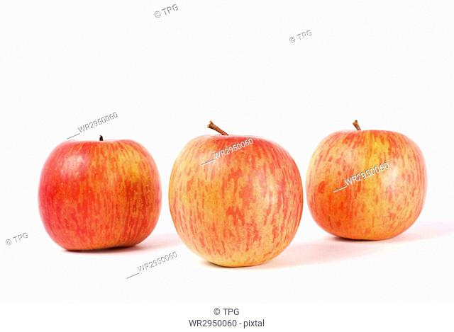 Isolated fresh apple with white background